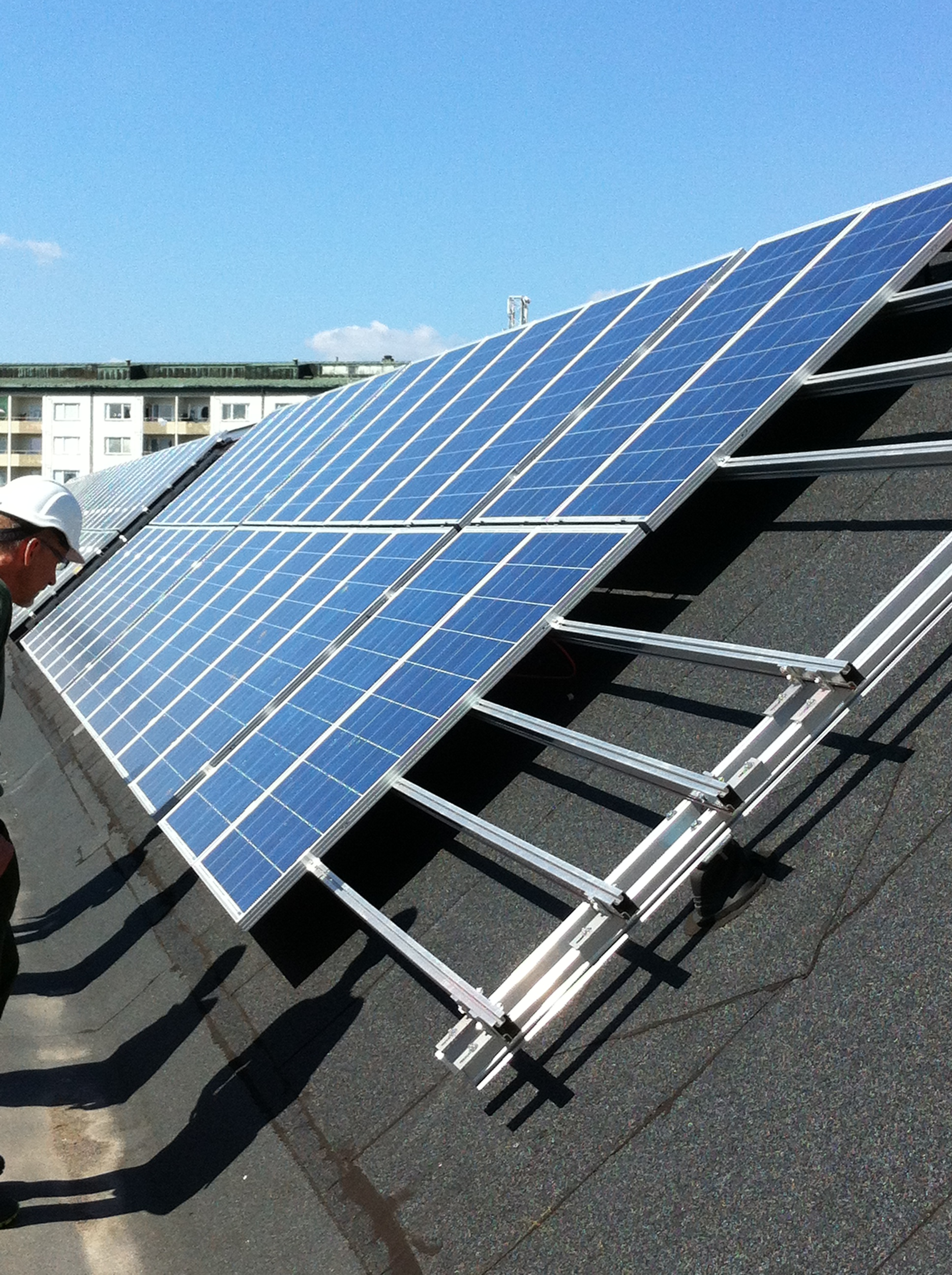 Solpanelerna på Simonsland i Borås